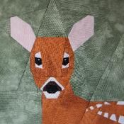 White-tailed Fawn paper-piecing - via @Craftsy