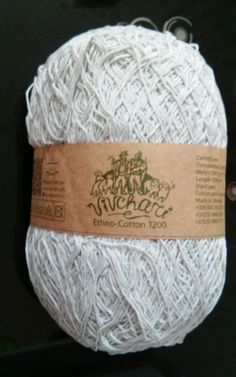 1 skein new ethno cotton 70% cotton 30% linen yarn 200gr 1200m #vivchari