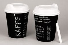 Kaffe is a coffee shop started by 4 swedes. The handwritten charcoal aesthetic derives from the personal connection every person has with their type of coffee. This is reflected in a direct style of communication with business cards, bags, take away cups ect. personally adressing the customer.More pictures here.