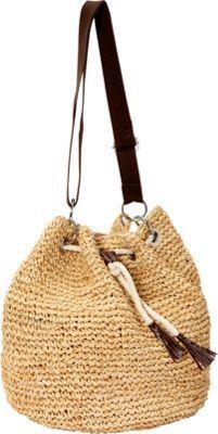 Betmar New York Raffia Shoulder Bag Natural - via eBags.com!