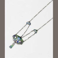 Murrle Bennett & Co. an Enamel Pendant Necklace