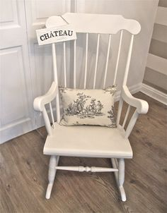 Shabby Chic / Farmhouse / Vintage Rocking Chair & This shabby chic pine rocking chair painted in Farrow u0026 Ball Slipper ...