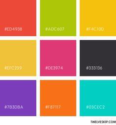 Colour Schemes Flat Design