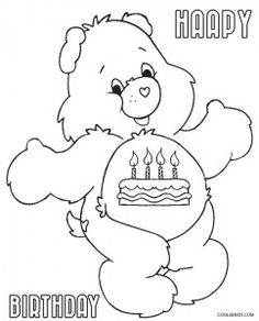 Birthday Care Bears Coloring Pages Unique Coloring Pages, Spring Coloring Pages, Bear Coloring Pages, Cartoon Coloring Pages, Printable Coloring Pages, Coloring Pages For Kids, Coloring Books, Care Bears, Disney Coloring Sheets