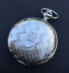 Victorian Silver Mens Pocket Watch Mechanical Personalized Groomsmen Gift VM013