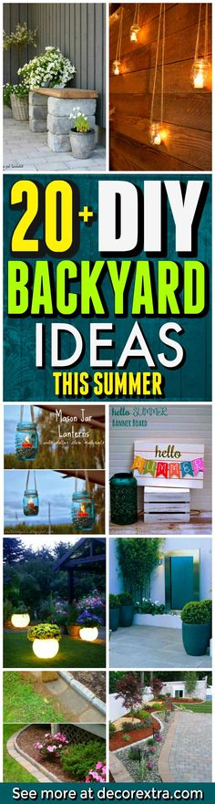 DIY Backyard Ideas for Summer - Yard Projects - Amazing Ideas for the Yard This Summer. Outdoor Decor, Furniture, Games and more
