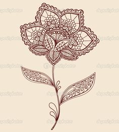 Google Image Result for http://static8.depositphotos.com/1008054/824/v/950/depositphotos_8248668-Henna-Lace-Flower-Doodle-Vector-Illustration.jpg