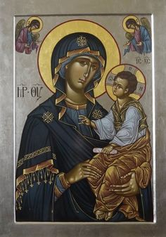 Madonna and Child. Religious Images, Religious Icons, Religious Art, Byzantine Icons, Byzantine Art, Greek Icons, Mama Mary, Madonna And Child, John The Baptist