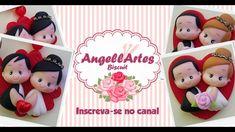 Recebidos+Aulinha Lembrancinha de Casamento Biscuit - AngellArtes
