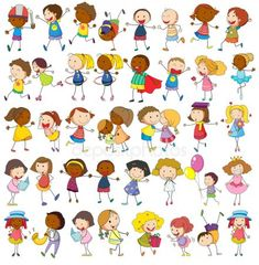Buy Children by interactimages on GraphicRiver. Illustration of children Clipart, Stick Figure Drawing, Cartoon People, Children Cartoon, Stick Figures, Friend Pictures, Drawing For Kids, Doodle Art, Doodle Kids
