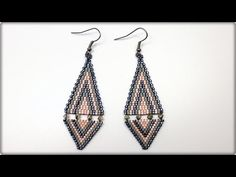 ▶ TheHeartBeading: Brick Stich Earrings Tutorial - YouTube
