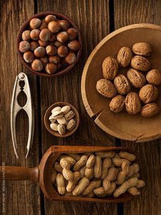 Assortment of nuts by Daniel Hurst for Stocksy United
