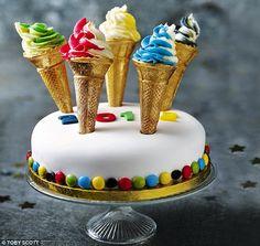 So cool: Olympic torch cake