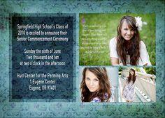 Custom Senior Graduation Photography Cards Colorado Springs - Ten18
