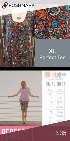 LuLaRoe Size XL Perfect T NWT LuLaRoe Size XL Perfect T NWT We have tons more to list. helping a friend liquidate her inventory. So let us know what your looking for and we will see what we have in your size. LuLaRoe Tops Tees - Short Sleeve