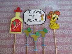 Cinco de Mayo Photo Booth Props  6 Piece Prop Set  Mexican