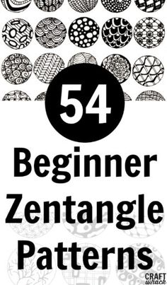 learn and practice easy Zentangle patterns with these pattern ideas and free printable pattern practice pages. art patterns Inspired By Zentangle: Patterns and Starter Pages of 2020 · Craftwhack Zentangle Patterns For Beginners, Easy Zentangle Patterns, Zen Doodle Patterns, Doodle Art For Beginners, Art Patterns, Zentangle Art Ideas, Easy Drawing Patterns, Doodle Borders, Pattern Drawing