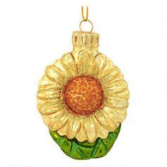 Sunflower Glass Ornament - Spun Glass - Christmas Ornaments - Bronner's CHRISTmas Wonderland