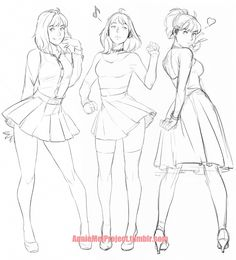 "anniemeiproject: "" just having fun drawing Annie in diff outfits   """