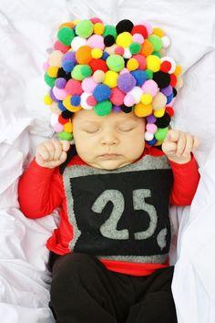 Costume de machine à gommes pour bébé
