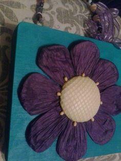 Flower cigar box purse by Cyndi Greer