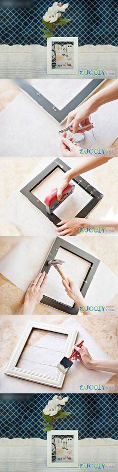 Un joyero para tus pendientes reciclando un marco de fotos  #diy #handmade #reciclar
