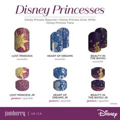While we are sad the entire series 1 to 4 Disney Collection by Jamberry are retiring this month, at least we have something new and exciting to celebrate – series Disney Princesses. And they are divine! Check out the … Continued Disney Princess Rapunzel, Disney Princess Snow White, Snow White Disney, Disney Princesses, Jamberry Disney, Disney Nails, Jamberry Nail Wraps, Disney Makeup, Pretty Nails