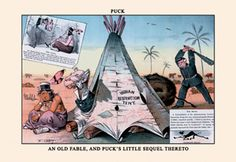 Indian Reservation Tent - Puck, by F. Opper