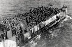 US Army troops on their way to Normandy, 6 June 1944