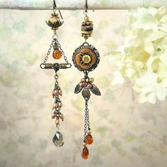 Indian Summer Earrings Autumn Wedding Fall by MiaMontgomery