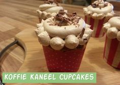 Koffie Kaneel Cupcakes | Jolanda's Bakhuisje Kinds Of Desserts, Creme, Delicious Desserts, Pancakes, Muffins, Sweets, Cookies, Breakfast, Recipes