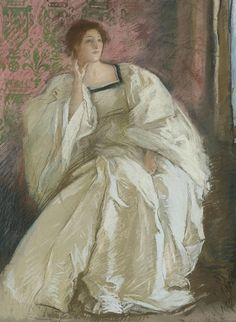 Edwin Austin Abbey Woman in White 1895