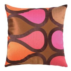 Burmese Vine Pillow in Pink