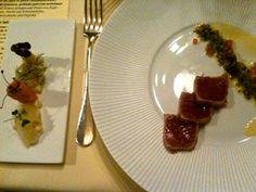 Le Moissonnier, Köln - Roter Thunfisch mit Miesmuschelsud