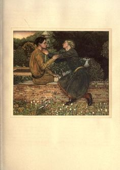 The Romaunt of the Rose by Geoffrey Chaucer, illustrated by Keith Henderson & Norman Wilkinson of Four Oaks (1911).