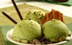 Ice Cream with Aegina Pistachios - iCookGreek Greek Recipes, Sorbet, Sweet Treats, Ice Cream, Sweets, Baking, Desserts, Pistachios, Food Cakes