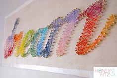 Rainbow String Art | 28 Unicorn-Approved RainbowDIYs