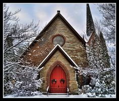 Stone church in snow  - - Your Local 14 day Weather FREE > http://www.weathertrends360.com/Dashboard  No Ads or Apps or Hidden Costs.