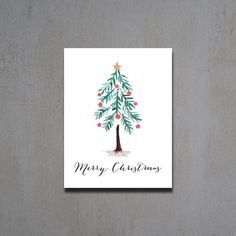 Christmas Cards Christmas Tree Christmas Card by HeartwoodPaperie