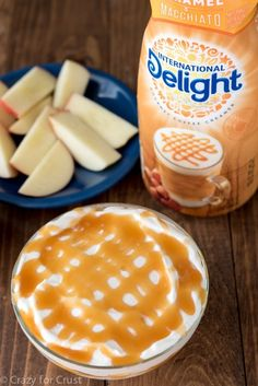 Caramel Cheesecake Dip made with International Delight Caramel Macchiato Creamer!
