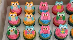 In cakes : Owl cupcakes. by TheVirtuousWife