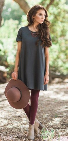 Casual dresses casual outfit ideas shirt dresses olive gray shirt dress fall - Shirt Casuals - Ideas of Shirt Casual - Casual dresses casual outfit ideas shirt dresses olive gray shirt dress fall fashion Morning Lavender Apostolic Fashion, Modest Fashion, Women's Fashion Dresses, Fashion 2018, Fashion Weeks, Fashion Clothes, Fashion Boots, Indie Outfits, Fall Outfits