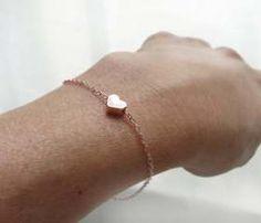 Rose Gold Heart Bracelet.