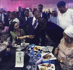 """Who knew Gov. Adams Oshiomhole is a jealous husband...lol   Singer Dare Art Alade shared this throwback photo from his meeting with Edo State Governor Oshiomhole and his wife Iara along with a funny recap of their conversation. He wrote; """"To Benin last September just after my performance I went to greet Gov Oshiomole who had invited me to the event held in honor of Solomon Arase the IG of police and our gisting was too funny! Lemme caption this picture. ADAMS: Darey meet my wife…"""