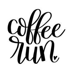 Silhouette Design Store: coffee run by Dawn Nicole Designs