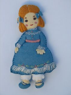Hand embroidered Clara from the Nutcracker Ballet