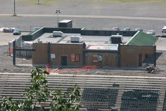 A shot from Montage Mountain of existing structures on the third base side of PNC Field.