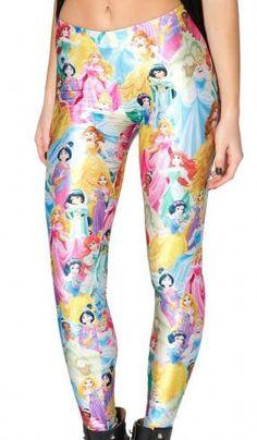 Leggings Princesas Disney Estupendos leggings en tonos pastel, donde vemos a todas las Princesas del mundo de Disney.