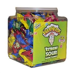 Warheads Extreme Sour Hard Candy Tub of 240 Most Sour Candy