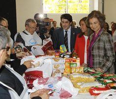 La reina Sofía inaugura las nuevas instalaciones del Banco de Alimentos de Madrid